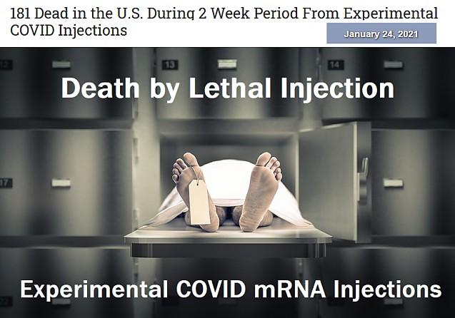 181 de morti in SUA in doar doua saptamani de vaccinare anti COVID
